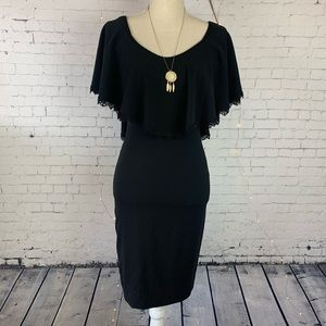 Dress The Population Black Boho Dress